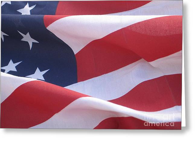 Greeting Card featuring the photograph American Flag   by Chrisann Ellis