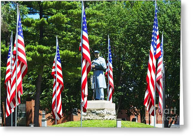 American Flag - Civil War Memorial -  Luther Fine Art Greeting Card by Luther Fine Art