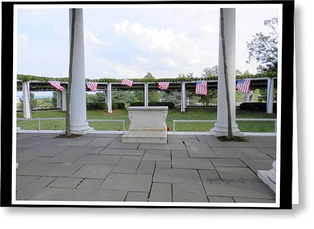 American Flag In Breeze Greeting Card