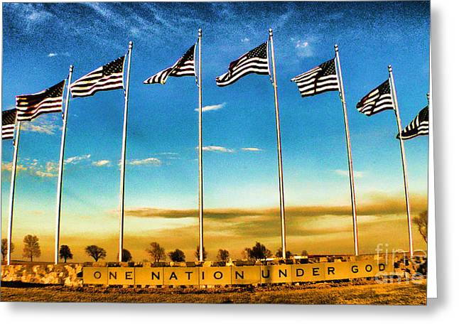 American Flag - Independence Day Greeting Card by Luther Fine Art