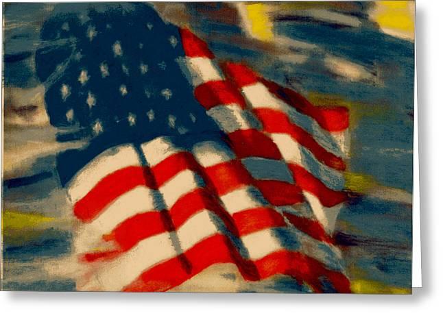 American Flag Greeting Card by Patrick McClellan