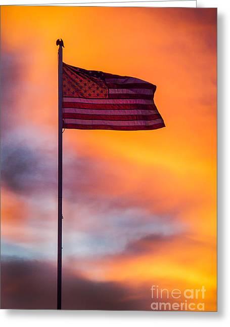 American Flag Greeting Card by Robert Bales