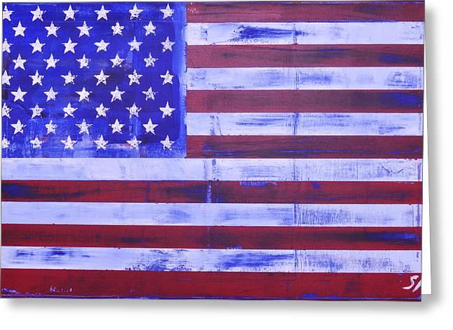 American Flag Greeting Card by Sean Keil