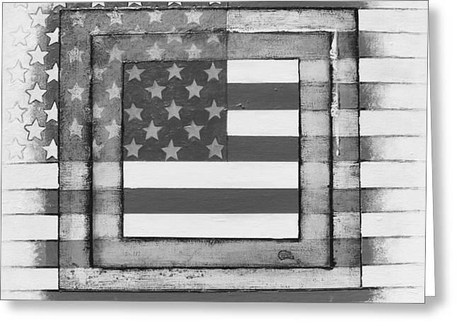 American Flag Greeting Card by Steve  Hester