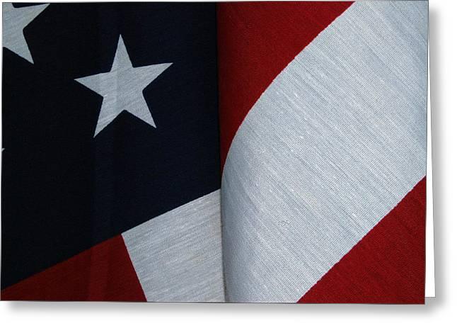 American Flag Greeting Card by Tam Ryan