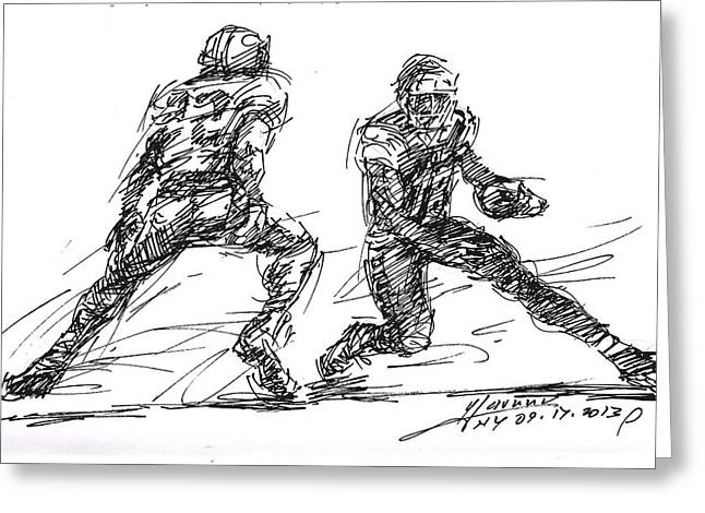 American Football 3 Greeting Card
