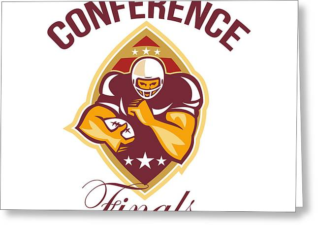American Football Conference Finals Ball Greeting Card
