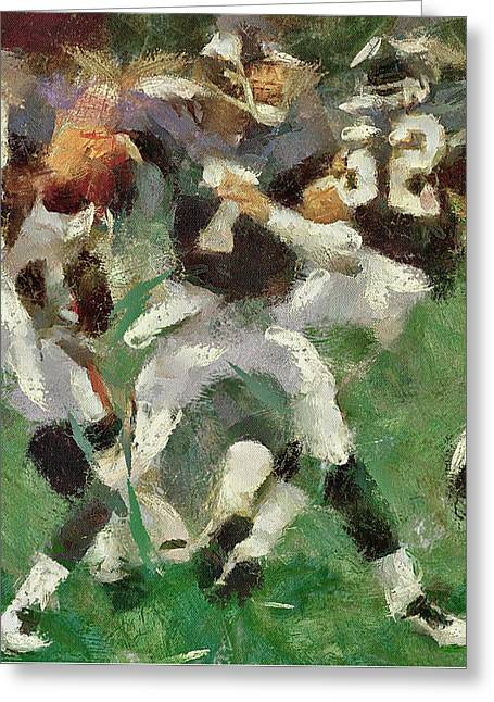 American Football Fight Greeting Card