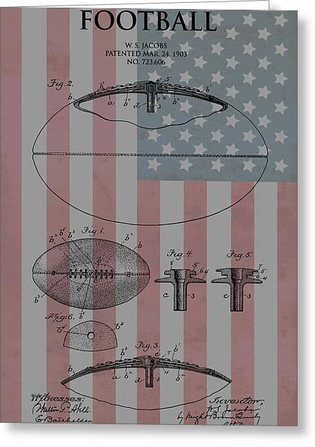 American Football Patent Greeting Card