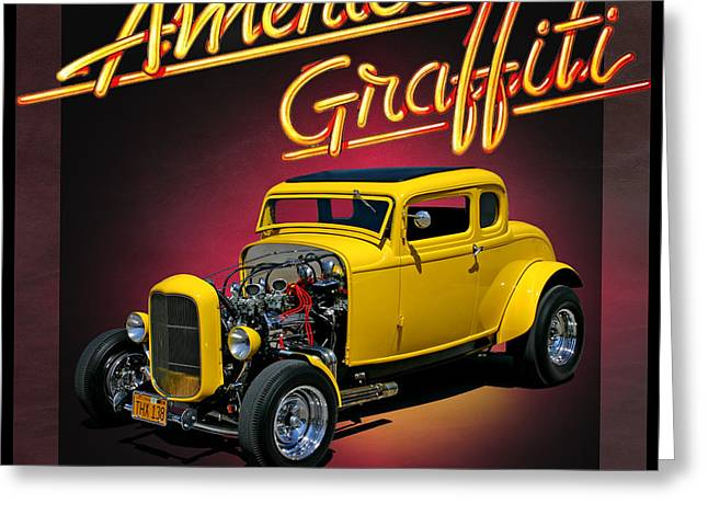 American Graffiti Greeting Card by Christopher McKenzie