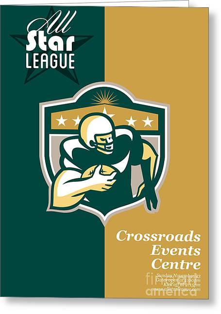 American Gridiron All Star League Poster Greeting Card