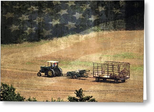 American Heartland Greeting Card by Dawn Gari