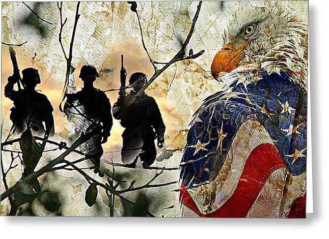 American Heroes  Greeting Card by Carrie OBrien Sibley