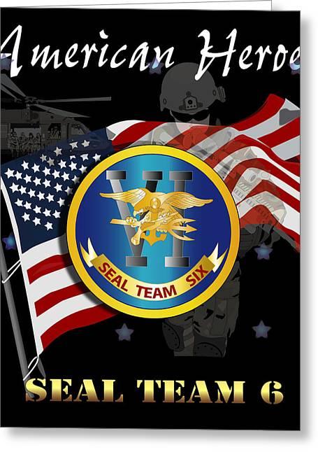 American Heroes - St Vi Greeting Card by Tom Adkins