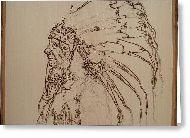 American Horse - Oglala Sioux Chief - 1880 Greeting Card by Sean Connolly