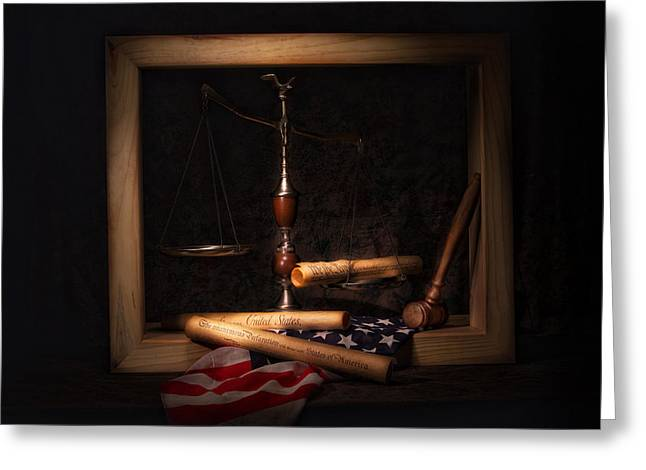 American Ideals Still Life Greeting Card by Tom Mc Nemar