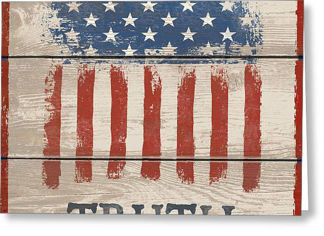 American IIi - Truth Greeting Card by Gail Fraser