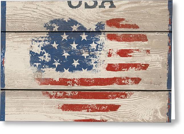 American IIi - Usa Greeting Card by Gail Fraser