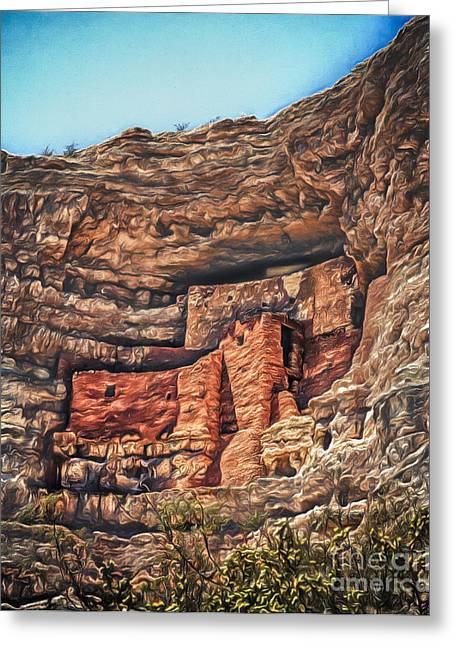 American Indian Cliff Dwelling  ... Greeting Card by Chuck Caramella