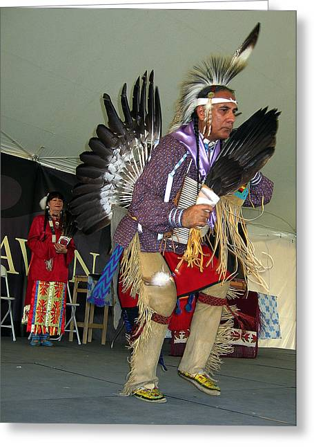 American Indian Dance Greeting Card by Bill Marder