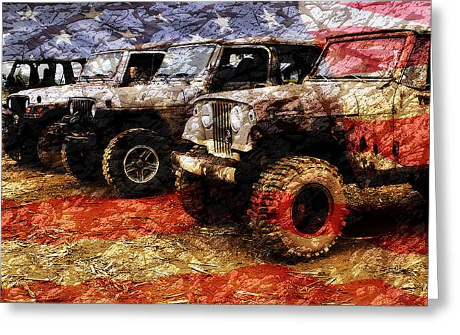 American Jeeps Greeting Card by Luke Moore