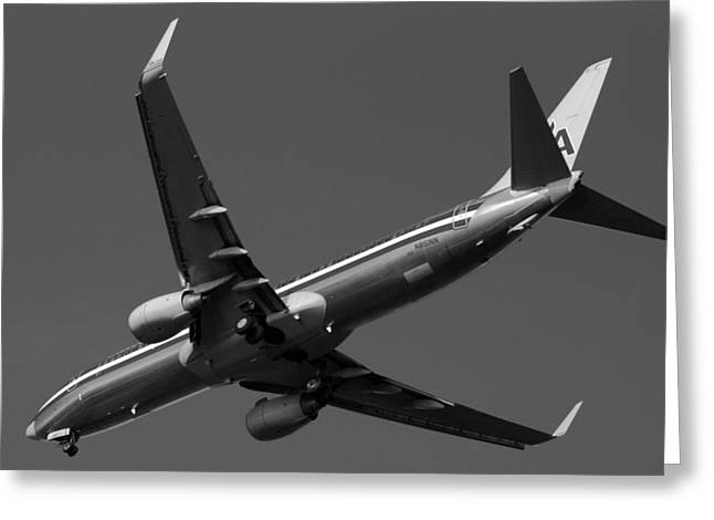 American Jet Landing Greeting Card