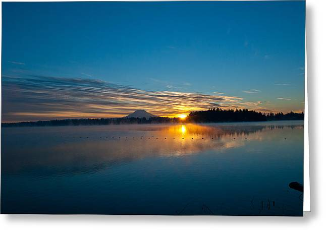 American Lake Sunrise Greeting Card
