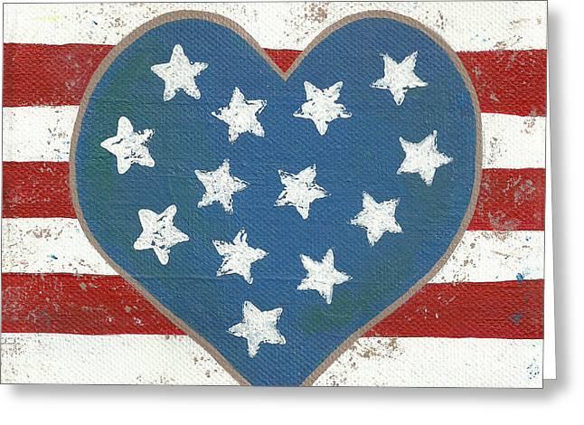 American Love Greeting Card by Kristi L Randall