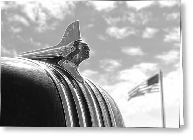American Made Black And White Greeting Card by Steve McKinzie