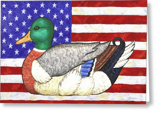 American Mallard Greeting Card by Linda Mears