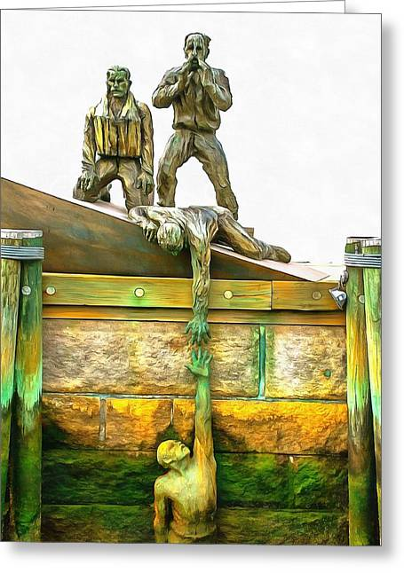American Merchant Mariners Memorial Greeting Card by Mick Flynn