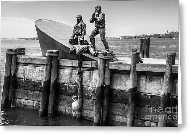 American Merchant Mariners Memorial New York City Greeting Card by Anthony Sacco