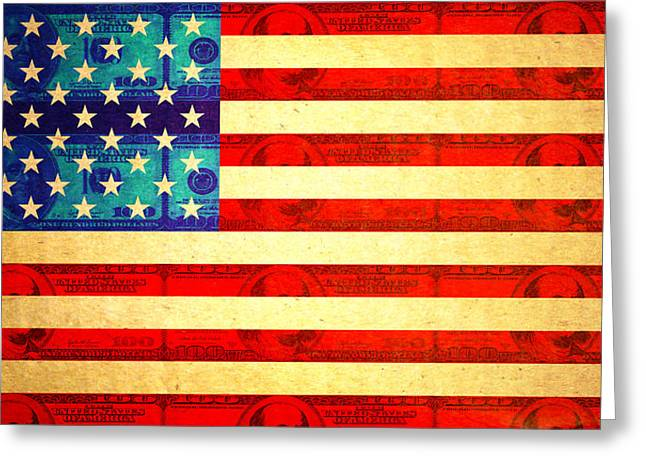 American Money Flag Greeting Card