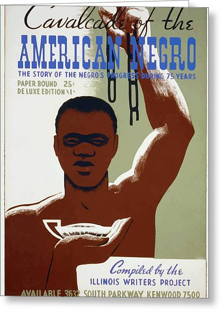 American Negro Greeting Card by American Classic Art
