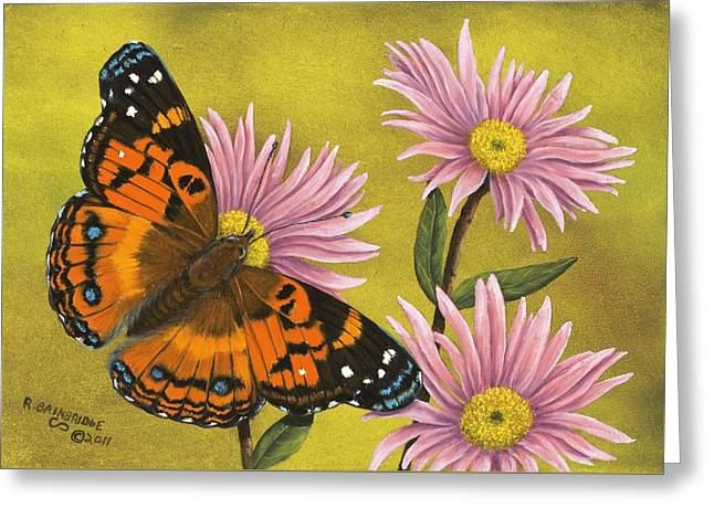 American Painted Lady Greeting Card by Rick Bainbridge