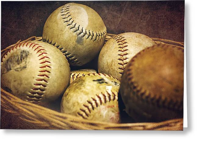 American Pastime  Greeting Card by Heather Applegate