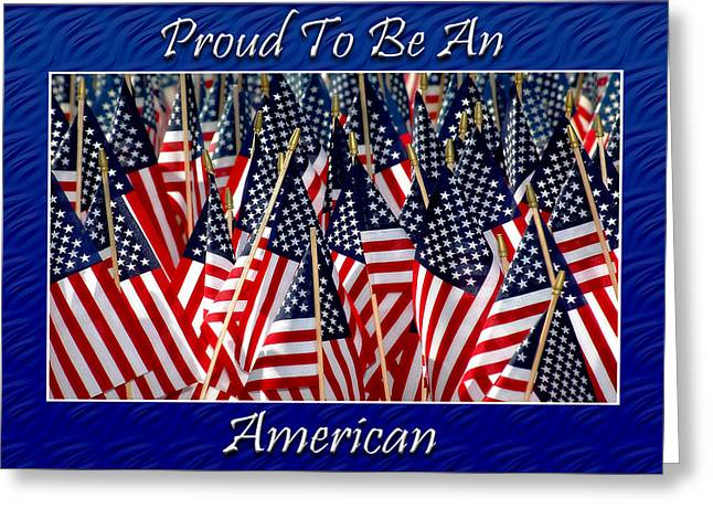 American Pride Greeting Card by Carolyn Marshall