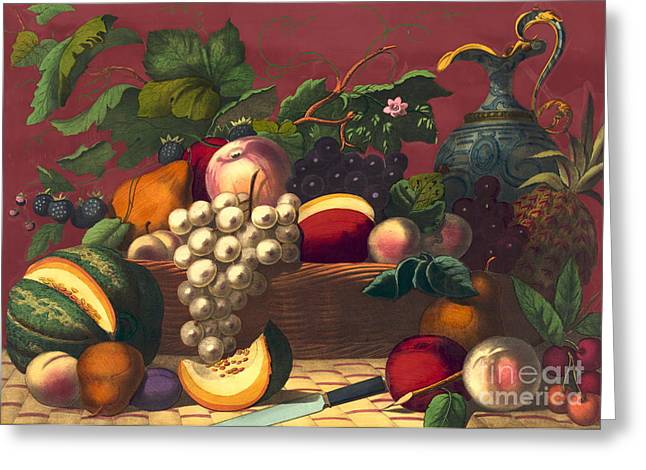 American Prize Fruit 1867 Greeting Card