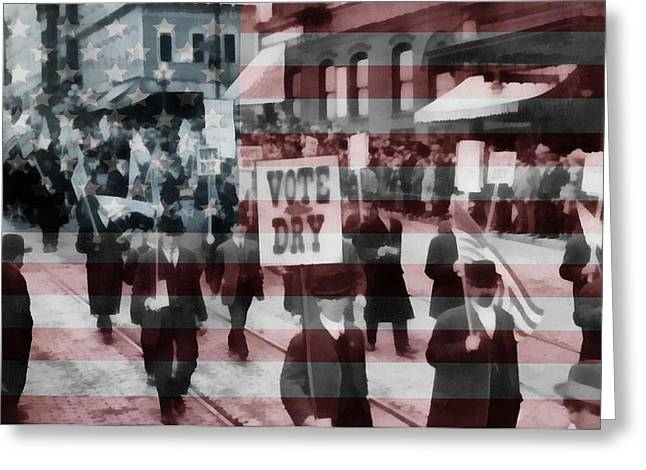 American Prohibition March Greeting Card