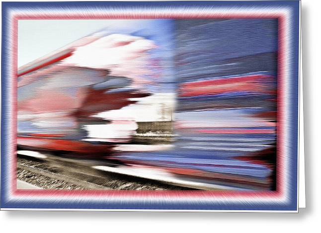 American Rail Greeting Card by Steve Ohlsen