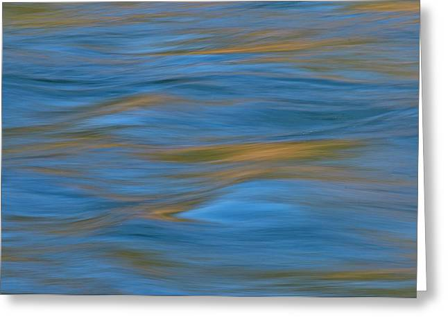 Greeting Card featuring the photograph American River Abstract by Sherri Meyer