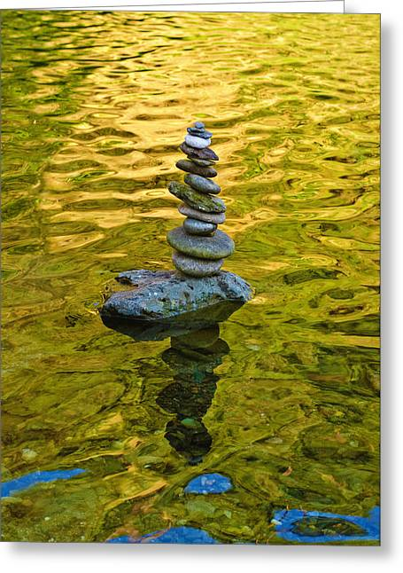 Greeting Card featuring the photograph American River Rock Art by Sherri Meyer