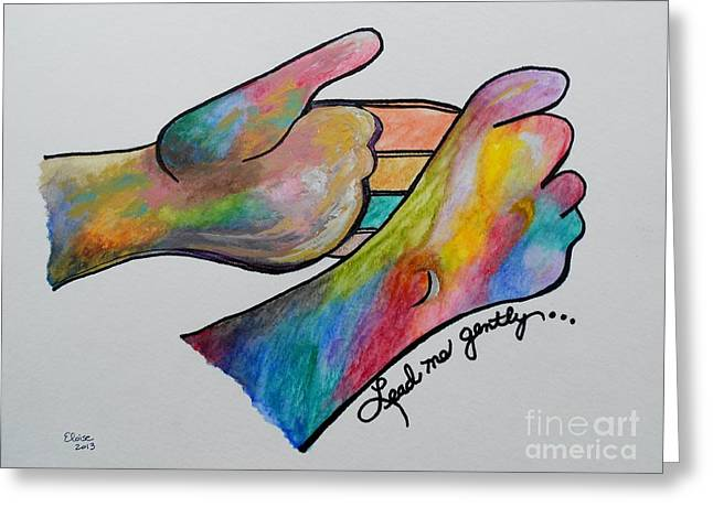 American Sign Language ... Lead Me Gently Greeting Card