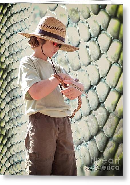 American Snake Charmer Greeting Card
