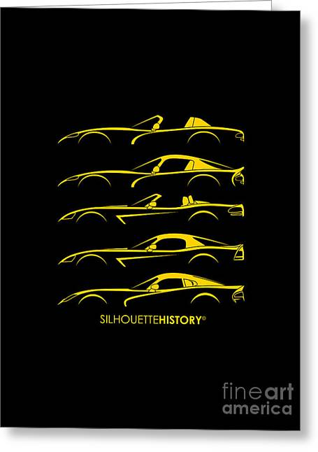 American Snakes Silhouettehistory Greeting Card