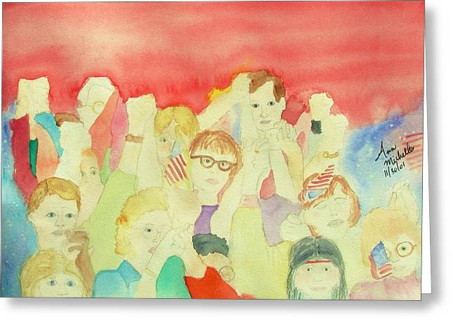 American Unity Greeting Card by Ann Michelle Swadener