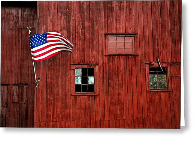 Americana Greeting Card by Diana Angstadt