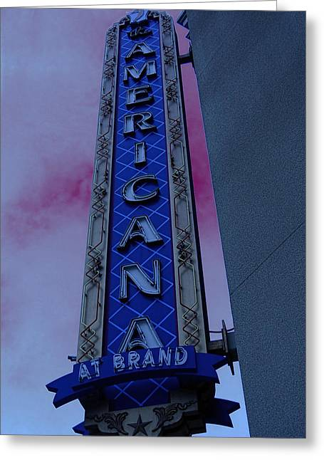 Greeting Card featuring the photograph Americana Vintage Landmark Sign_3 by Renee Anderson