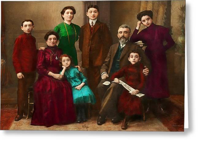 Americana - The Savatsky Family Greeting Card by Mike Savad
