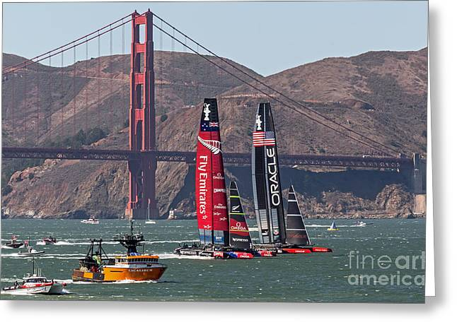 Americas Cup At The Gate Greeting Card